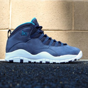 Air Jordan Retro 10 City Pack LA Men (ocean fog / ocean fog / blue lagoon / midnight navy)