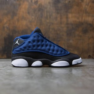 AIR JORDAN 13 RETRO LOW BG GS Big Kids (blue / brave blue / metalllic silver black)