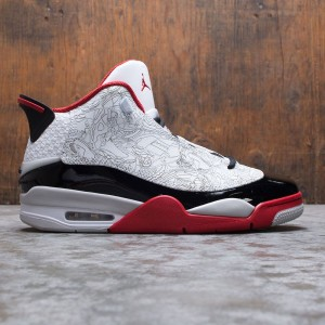 Air Jordan Dub Zero Men (white / black-varsity red-neutral grey)