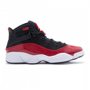 Jordan Men 6 Rings (black / white-gym red)