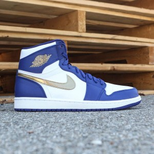 AIR JORDAN 1 RETRO HIGH Men (deep royal blue / mtlc gold coin-white)