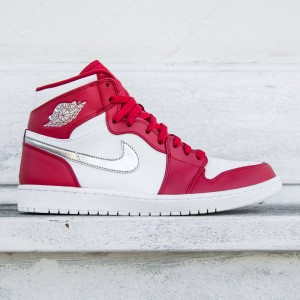 AIR JORDAN 1 RETRO HIGH Men (gym red / metallic silver-white)
