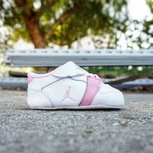 Jordan Toddlers 1st Crib (white / perfect pink-metallic silver)