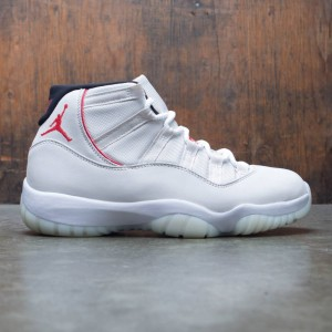 AIR JORDAN 11 RETRO Men (platinum tint / university red-sail)