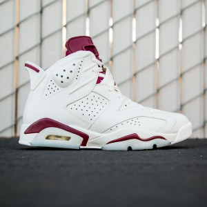Air Jordan 6 Retro - Maroon Men (white / off white / new maroon)