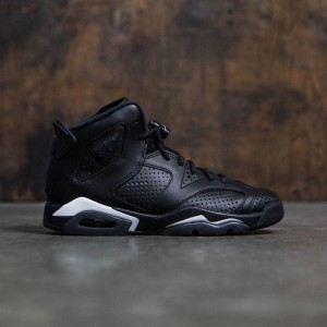 Air Jordan 6 Retro (GS) Black Cat Big Kids (black / black-white)