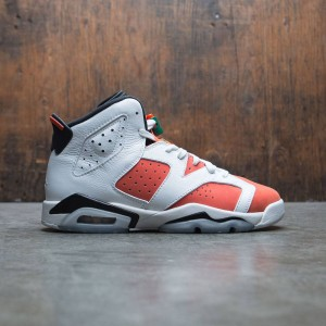 Air Jordan 6 Retro (GS) Big Kids (summit white / team orange-black)