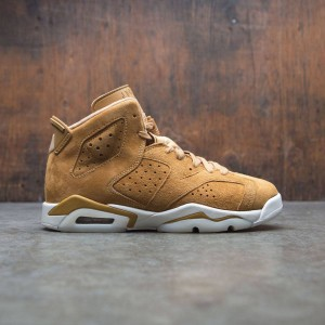 Air Jordan 6 Retro (GS) Big Kids (tan / golden harvest / golden harvest-sail)