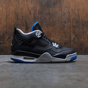 Air Jordan IV Retro (GS) Big Kids (black / soar-matte silver-white)