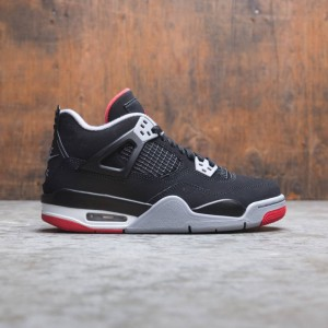 Air Jordan IV Retro (GS) Big Kids (black / fire red-cement grey-summit white)