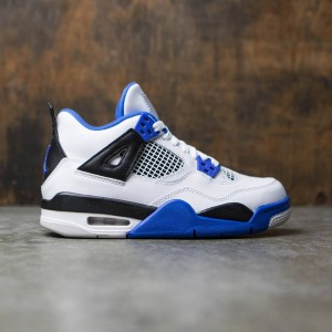 Air Jordan IV Retro (GS) Big Kids (white / game royal-black)