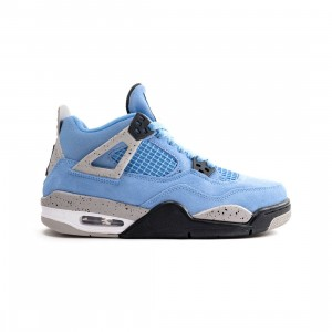 Jordan Big Kids Air Jordan 4 Retro (university blue / black-tech grey-white)
