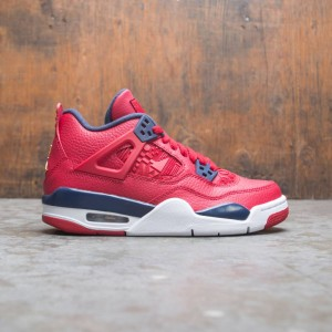 Air Jordan 4 Retro Big Kids (gym red / obsidian-white-metallic gold)