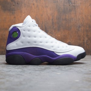 Air Jordan 13 Retro Men (white / black-court purple-university gold)