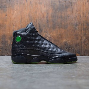 Air Jordan 13 Retro (GS) Big Kids (black / altitude green)
