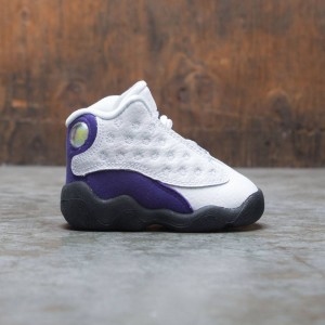 Jordan Toddlers 13 Retro (white / black-court purple-university gold)