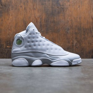 Air Jordan 13 Retro (GS) Big Kids Girls' (gray / wolf grey / white-deadly pink-white)