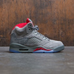 Air Jordan 5 Retro (GS) Big Kids (dark stucco / university red-river rock)