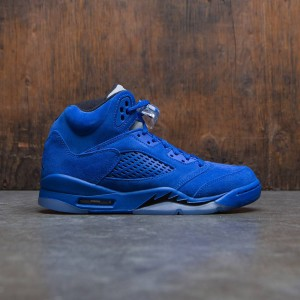 Air Jordan 5 Retro (GS) Big Kids (blue / game royal / black)