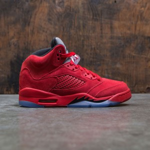 Air Jordan 5 Retro (GS) Big Kids (university red / black-university red)