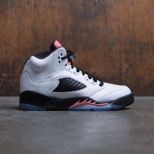 Air Jordan 5 Retro (GS) Big Kids Girls' (white / white-sunblush-black)