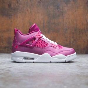 Air Jordan 4 Retro Big Kids (true berry / rush pink-white)