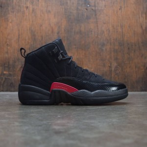 AIR JORDAN 12 RETRO GG Big Kids  (black / dark grey-rush pink)