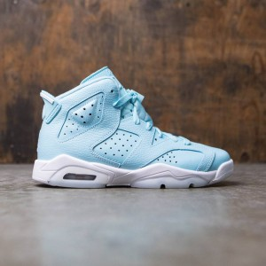 Air Jordan 6 Retro (GS) Big Kids Girls' (still blue / white-white)