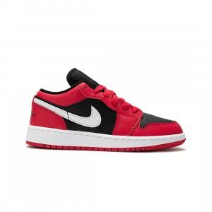 Air Jordan 1 Low Big Kids (black / white-very berry)