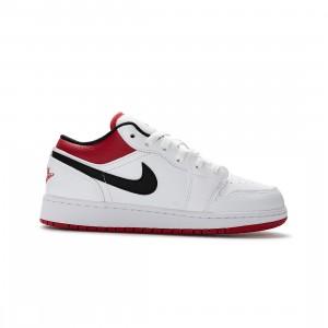 Air Jordan 1 Low Big Kids (white / gym red-black)