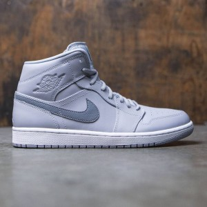 Air Jordan 1 Mid Men (wolf grey / cool grey-cool grey-white)