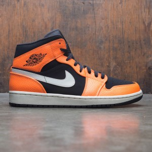 Air Jordan 1 Mid Men (black / cone-light bone)
