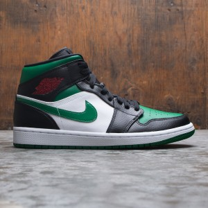 Air Jordan 1 Mid Men (black / pine green-white-gym red)