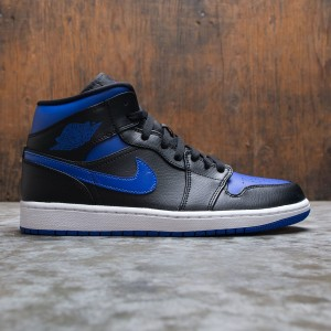 Air Jordan 1 Mid Men (black / hyper royal-white)