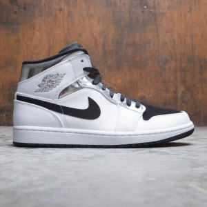 Air Jordan 1 Mid Men (white / metallic silver-black)