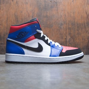 Air Jordan 1 Mid Men (white / black-hyper royal-university red)