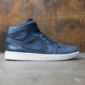 Air Jordan 1 Mid Men (armory navy / electrolime-white)