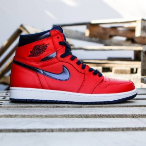 Air Jordan 1 Retro High OG Men (lt crimson / university blue / white / midnight navy)