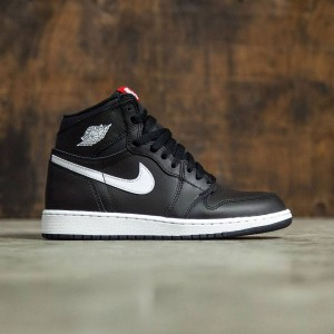 Air Jordan 1 Retro High OG (GS) Big Kids (black / white-black-university red)