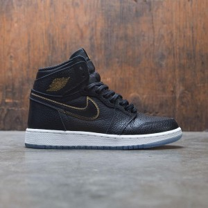 Air Jordan 1 Retro High OG (GS) Big Kids (black / metallic gold-summit white)