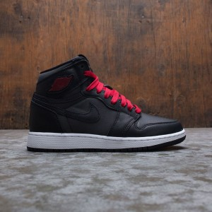 Air Jordan 1 Retro High OG Big Kids (black / gym red-black-white)