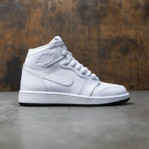 Air Jordan 1 Retro High OG (GS) Big Kids (white / black-white)