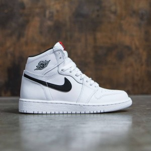 Air Jordan 1 Retro High OG (GS) Big Kids (white / black-white-university red)