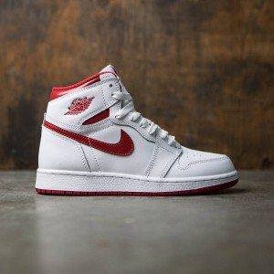Air Jordan 1 Retro High OG (GS) Big Kids (white / varsity red)
