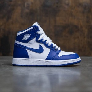 Air Jordan 1 Retro High OG (GS) Big Kids (white / stormblue)