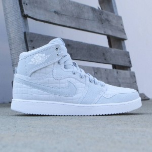 Jordan Men Air Jordan 1 KO High OG Shoe (pure platinum / white-metallic silver)