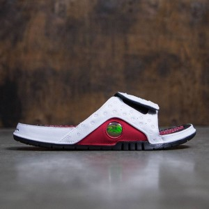 Jordan Men Hydro XIII Retro Slide (white / black-gym red)