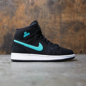 Air Jordan 1 Retro High (GS) Big Kids (black / hyper jade-white)