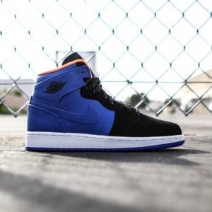 Air Jordan 1 Retro High BG GS Big Kids (blue / hyper cobalt / atomic orange / black volt)