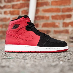 Air Jordan 1 Retro High BG GS Big Kids (red / gym red / black / white)